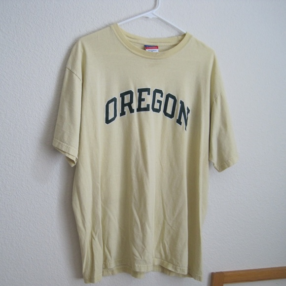 Champion Tops - Champion Yellow Oregon T Shirt - Size XL